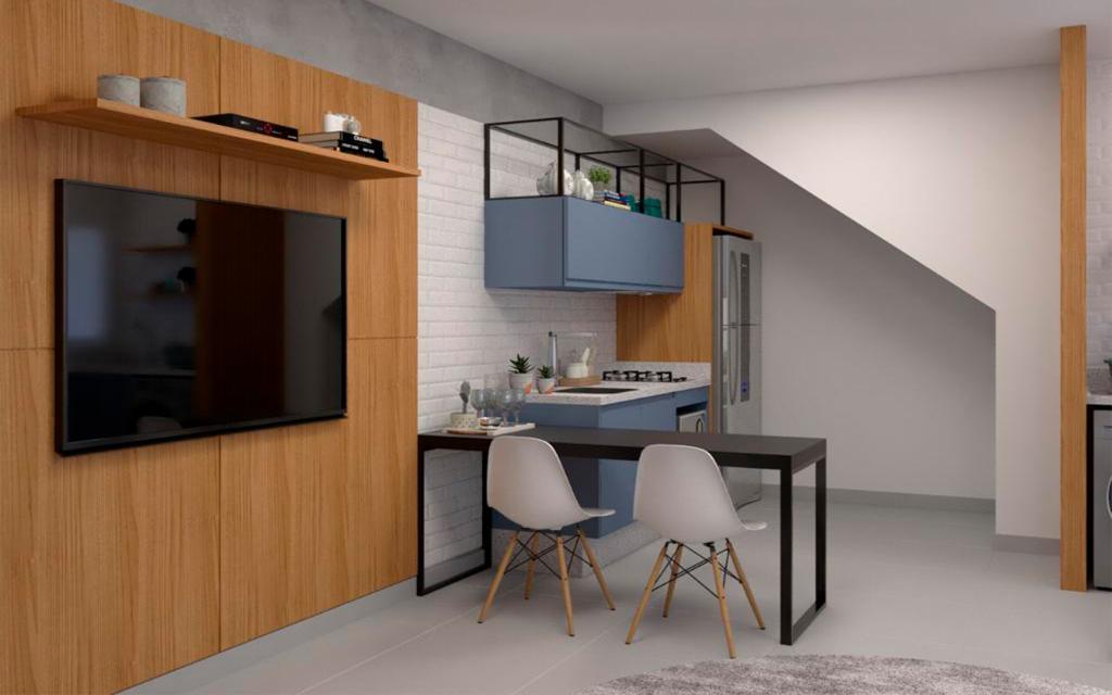 5f0136da-a293-40e6-88c2-e6b18f93b128-KIKUDOME IMOVEIS APARTAMENTO Belem 45786 1 dormitório. sala. cozinha. banheiro. área de serviço.  A 600m do metrô Belém  Acabamentos de qualidade: mármore nas pias e piso porcelanato.  Tudo individualizado: água, luz.  * Imagens ilustrativas para você conseguir sonhar como ficará sua casa!